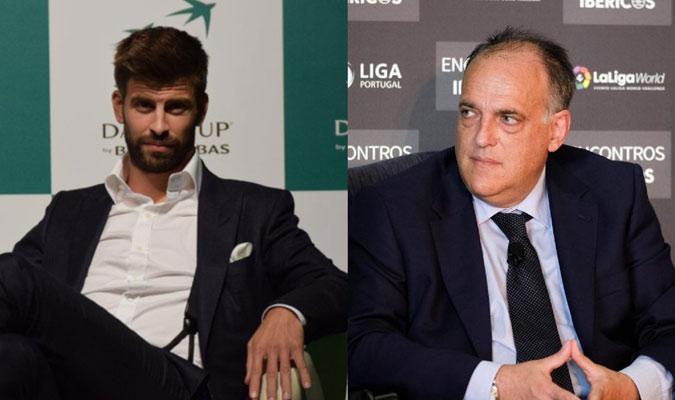 Piqué y Tebas se pusieron de acuerdo/ Foto Cortesía