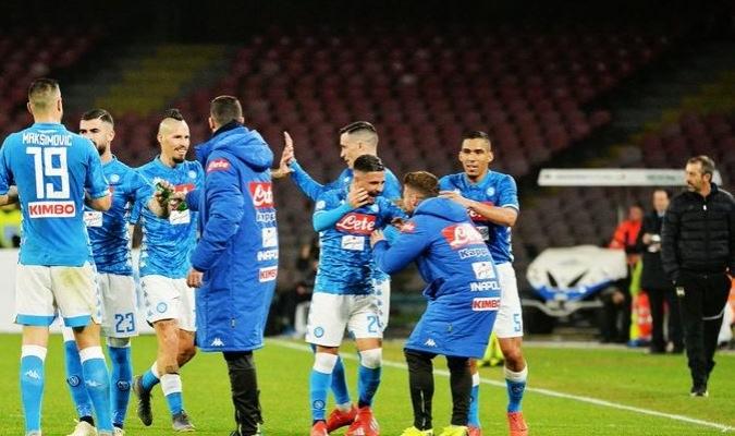 El Nápoles dominó con una buena ofensiva a su similar Sampdoria Foto: Cortesía