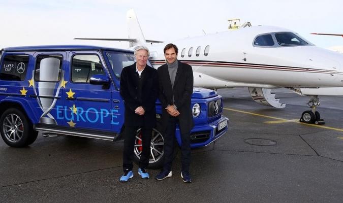 Federer y Borg promocionan el torneo / Foto: Cortesía