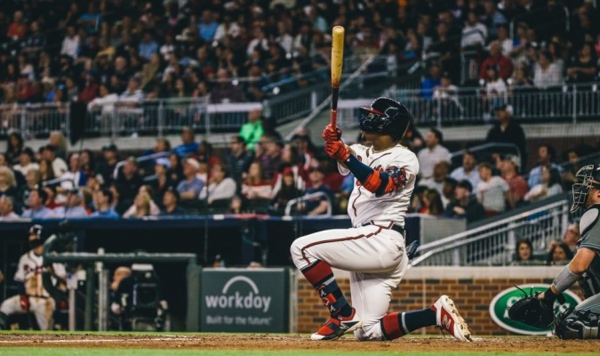 Acuña sacó un jonrón que salió con velocidad de 114.7 millas por hora | Foto: MLB