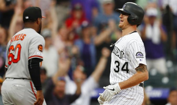 Colorado mostró una gran ofensiva en el noveno episodio // Foto: AP