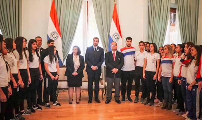 Paraguay recibió el pasado junio la bandera de los Juegos Sudamericanos de manos del país organiza