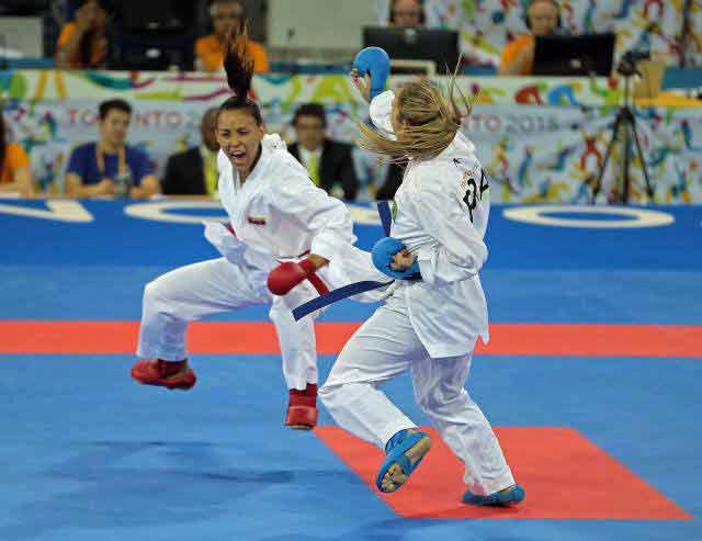 La karateca compite en los + 68 kilogramos l Foto: Cortesía