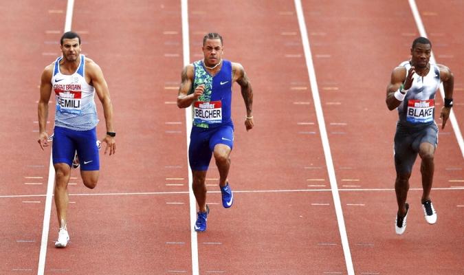 Blake se quedó con la prueba de 100 metros planos / Foto: AP