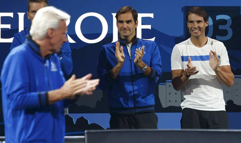 Federer y Nadal en Ginebra, Suiza / Foto: AP