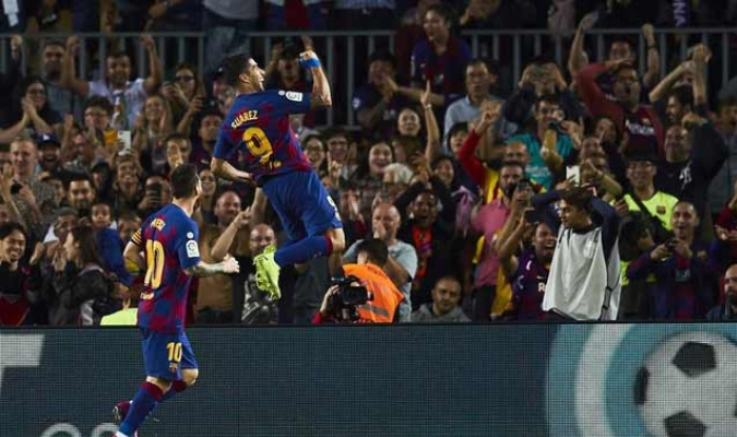 Suárez anotó el primer gol del partido / Foto: EFE