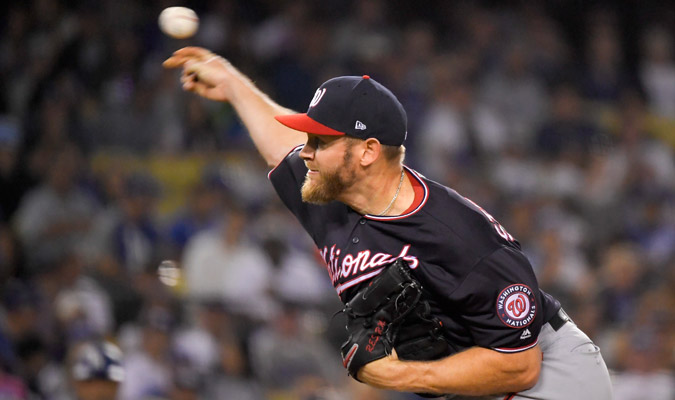 Strasburg abrirá el juego definitorio de su serie ante Dodgers / Foto: AP