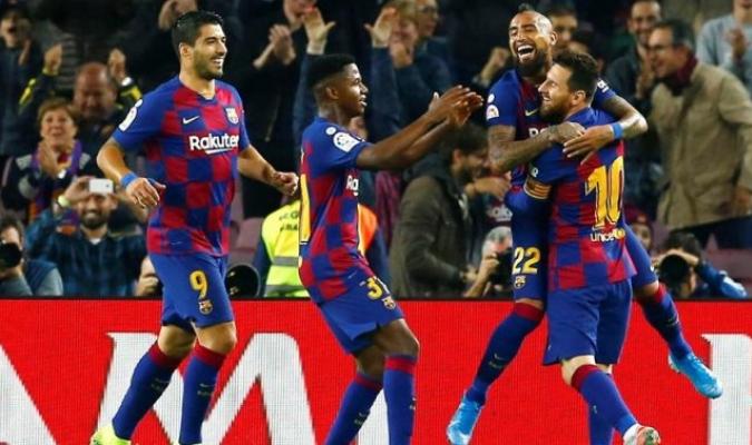 Messi marcó doblete en Camp Nou / Foto: EFE