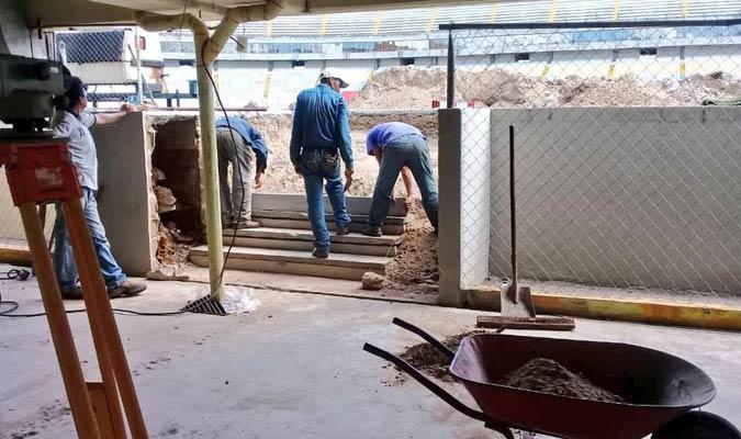 El recinto está siendo remodelado / Foto: Twitter (@JJHR_11)