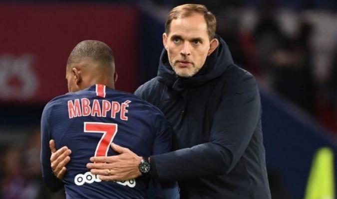Kylian Mbappé es sustituido por Thomas Tuchel / Foto: cortesía