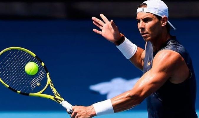 Nadal ya entrena para su debut en el Open de Australia / Foto: Cortesía