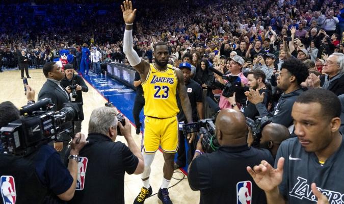 James superó la marca de anotaciones de Bryant / Foto: AP