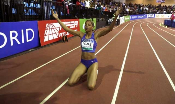 Rojas superó el récord que estaba en poder de Tatiana Lébedeva / Foto: Cortesía